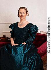 Porträt junge siegreiche Frau.