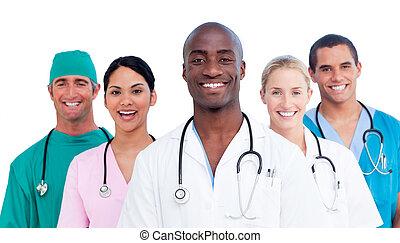 Portrait des positiven medizinischen Teams