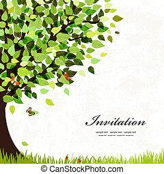 Postkarte mit einem Baum entwerfen