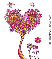 Postkarte mit lustigem Grußbaum.