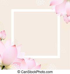 Postkarte mit Pastellblumen.