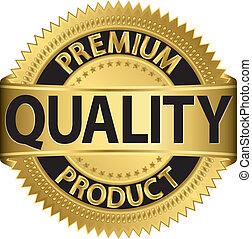 prämie, produkt, qualität, labe, goldenes