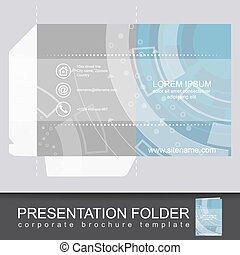 Präsentation Corporate Ordner Vorlage mit der Schnitt-Design