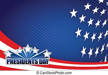 Präsidenten Tag rot, weiß und blau