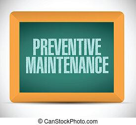 prävention, nachricht, wartung, zeichen