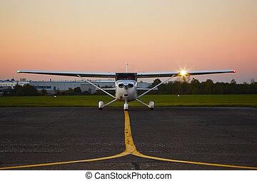 Privatflugzeug.
