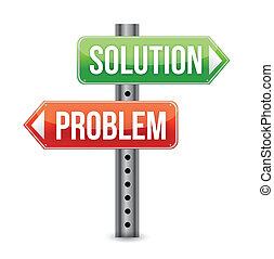 Problemlösungsstraßen bedeuten Illustra
