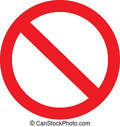 Prohibitionszeichen