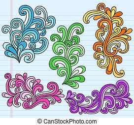 Psychedelic swirly doodles Vektor