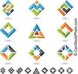 Quadrate, Rechtecke, Dreiecke