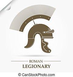 römischer Legionärhelm.