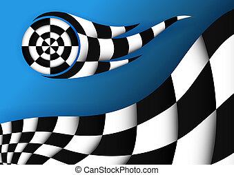 Racing Flag Vektor Hintergrund.