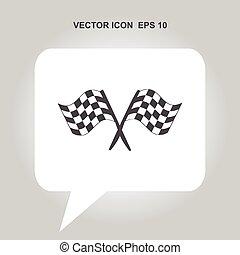 Racing Flag Vektor Icon.