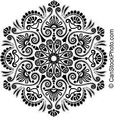 Radiale geometrische Muster.