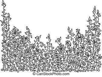 Raffinierte Blumenvignette VIII