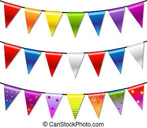 Rainbow Bung-Bing-Banner, Garland