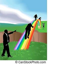 Rainbow Business Konzept Illustration