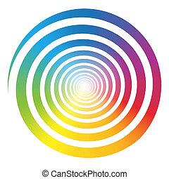 Rainbow Farbverlauf Spiralweiß