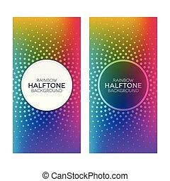 Rainbow Gradient Banner mit Halbtontexturen