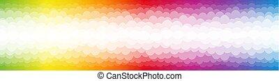 rainbow verfärbte, färben spektrum, blasen, hintergrund
