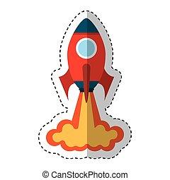 Raketenwerfer isoliert Ikone.