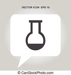 Reagenz-Vektor-Icon.