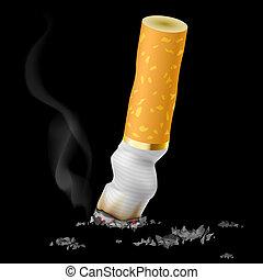 realistisch, zigarette kolben