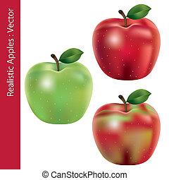 Realistische Äpfel