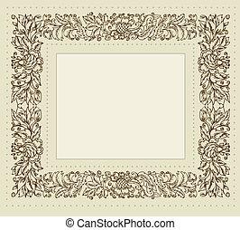 Rebflächenrahmen mit Blumenschmuck