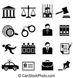 Rechts-, Rechts- und Rechtssymbole.