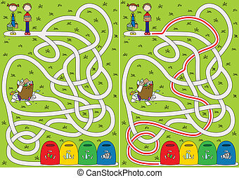 Recycling Labyrinth