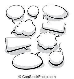 Rede und Gedankenblasen (vektor)