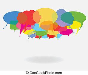 Reden und Redeblasen