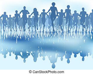 Reflektierte Läufer