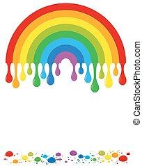 Regenbogenfarben fallen