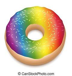 Regenbogenfarbener Donut