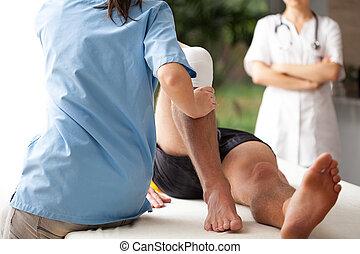Rehabilitation von gebrochenem Bein
