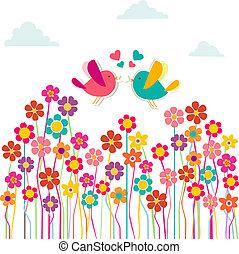 reizend, lieben vögel, sozial