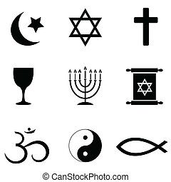 Religiöse Symbole Symbole.