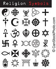 Religionssymbole.