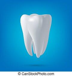 render., dental, gesundheit, 3d, zahn, vektor, design, element., begriff, medizinprodukt