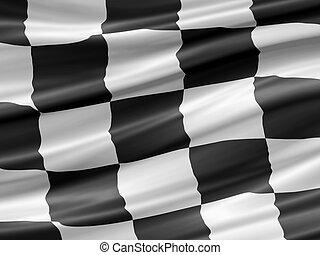 Rennflagge.