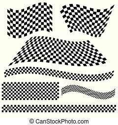 Rennflagge Vektorgrafik.