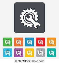reparatur, service, werkzeug, symbol., zeichen, icon.
