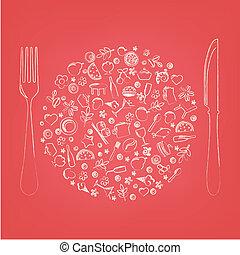 Restaurant-Ikonen in Form von Sphäre