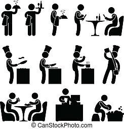 Restaurant-Kellnerin