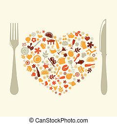 Restaurantdesign in Form von Herz
