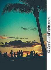 Retro Beach Party.