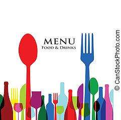 Retro Cover Restaurant Menü Designs.
