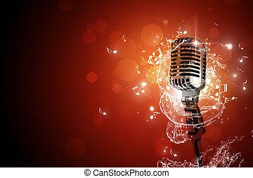 Retro-Mikrofon-Hintergrund